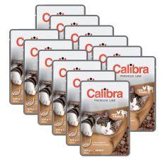 CALIBRA Cat Adult jehněčí a drůbeží kousky v omáčce 12 x 100 g