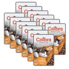 CALIBRA Cat Adult kachní a kuřecí kousky v omáčce 12 x 100 g