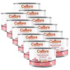 Calibra Cat Sensitive GF – Krůta a losos s lososovým olejem, konzerva 12 x 200 g