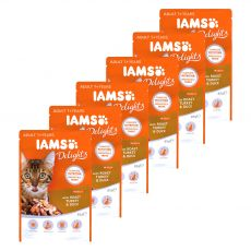 Iams Cat roast turkey & duck 6 x 85 g