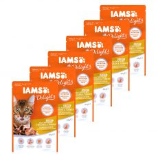 Iams Cat chicken & turkey 6 x 85 g
