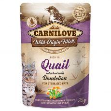 Carnilove Sterilized Cat Quail with Dandelion 85 g