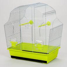 Klec pro papouška MARGOT II chrom - 50,5 x 28 x 54 cm