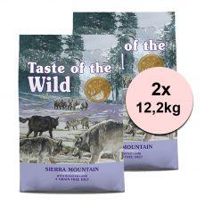 TASTE OF THE WILD Sierra Mountain Canine 2 x 12,2 kg