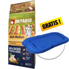 ONTARIO Adult Medium – chicken & potatoes 12 kg