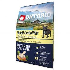 ONTARIO Weight Control Mini – turkey & potatoes 2,25 kg