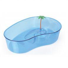 Terárium pro želvy s palmou velké modré
