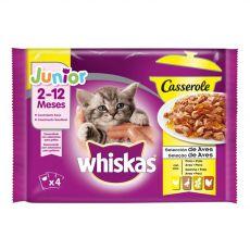 Whiskas Casserole Junior Drůbeží výběr v želé 4 x 85 g