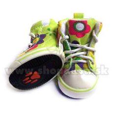 Boty pro psa - tenisky zelené (4 ks) - vel. 1