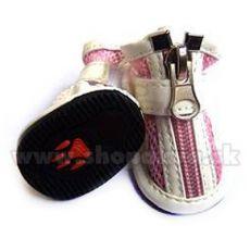 Botičky pro psa vzdušné - růžové (4 ks) - vel. 4