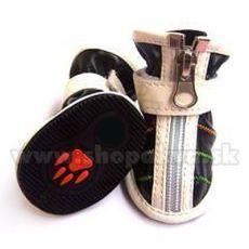Boty pro psa na zip černé (4 ks) - vel. 3
