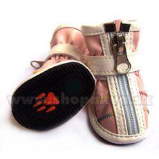 Boty pro psa na zip růžové (4 ks) - vel. 3