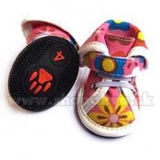 Boty pro psy arabské látkové - růžové (4 ks) - vel. 5