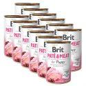 Konzerva Brit Paté & Meat PUPPY, 12 x 400 g