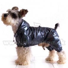 Pláštěnka pro psa dvojvrstvá - šedočerná, XS