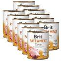 Konzerva Brit Paté & Meat Turkey 12 x 800 g