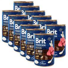 Konzerva Brit premium by Nature Beef & Tripe 12 x 400 g