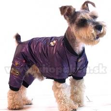 Overal na zimu pro psa - fialový, XS