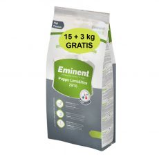 Eminent Puppy Lamb & Rice 15 kg + 3 kg GRATIS