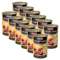 Animonda GranCarno Adult Plus hovězí + krůta – konzerva 12 x 400 g