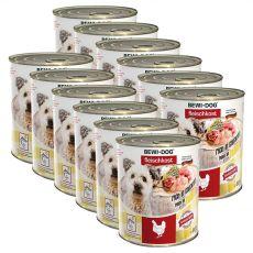 New BEWI DOG konzerva – Chicken, 12 x 800 g