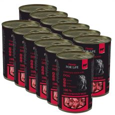 Konzerva Fitmin For Life RIND 12 x 400 g