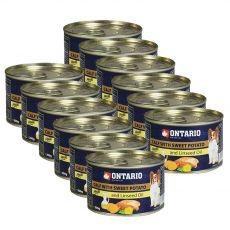 Konzerva ONTARIO Telecí se sladkým bramborem a lněným olejem – 12 x 200 g