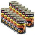 Konzerva ONTARIO pro psa, hovězí, brambory a olej - 12 x 400 g