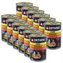 Konzerva ONTARIO pro psa, jehněčí, rýže a olej - 12 x 400 g