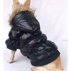 Větrovka pro psa - péřová, černá, XS