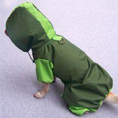 Pláštěnka pro psa - olivovo-hrášková, XS