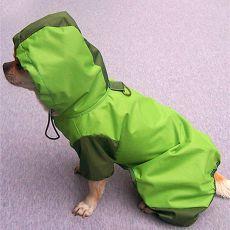 Pláštěnka pro psa - zelená, S
