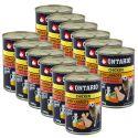 Konzerva ONTARIO pro psa, kuřecí, mrkev a olej - 12 x 400 g