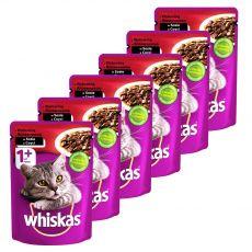 Whiskas hovězí kapsička 6 x 100 g