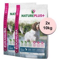 Eukanuba Nature Plus+ Adult Medium Rich in freshly frozen Salmon 2 x 10 kg