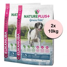 Eukanuba Nature Plus+ Adult Grain Free Salmon 2 x 10kg