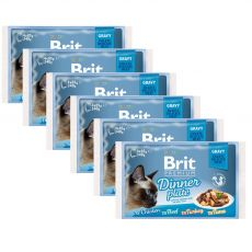 Kapsičky BRIT Premium Cat Delicate Fillets in Gravy Dinner Plate 6 x (4 x 85 g)