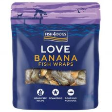 FISH4DOGS Love Banana Fish Wraps 100 g