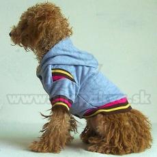 Svetřík s kapucí pro psa - šedý, XL