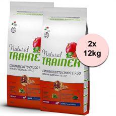 TRAINER Natural Medium Adult sušená šunka 2 x 12 kg