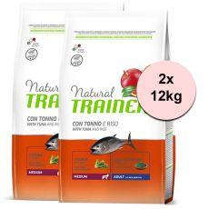Trainer Natural Medium Adult ryba a rýže 2 x 12 kg