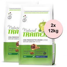 TRAINER Natural Maxi Adult sušená šunka 2 x 12 kg