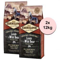 Brit CARNILOVE Lamb & Wild Boar Adult 2 x 12 kg