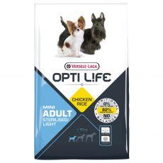 Versele Laga Opti Life Adult Mini Sterilised/Light 7,5 kg