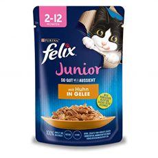 Kapsička FELIX Junior Fantastic s kuřetem v želé 85 g