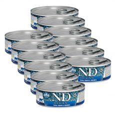 Farmina N&D cat tuna, squid & shrimp konzerva 12 x 80 g