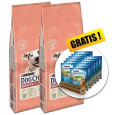 PURINA DOG CHOW SENSITIVE Salmon & Rice 2 x 14 kg+ DÁREK