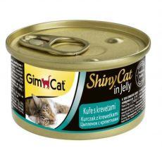 GimCat ShinyCat kuře + krevety 70 g