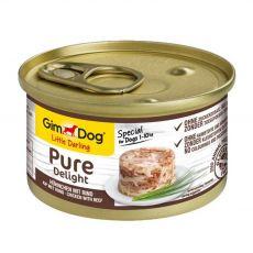 GimDog Pure Delight kuře + hovězí 85 g