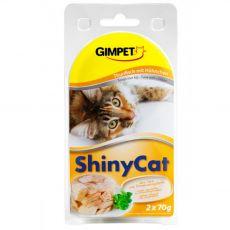 GimCat ShinyCat tuňák + kuře 2 x 70 g